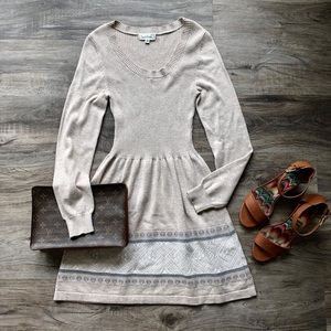 Cloud Chaser Tribal Print Sweater Dress
